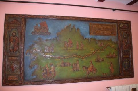 mural del camino en el castillo de Salas