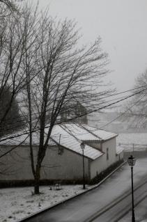nieve en La Espina